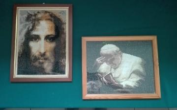 Wystawa prac autorstwa pani Grażyny Laski z Aleksandrowa