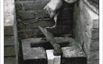 Wmurowanie kamienia węgielnego pod budowę kościoła w Obierwi 1977